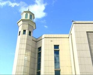 Minaret de la mosquée Baitul-Futuh - Londres