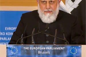 Le Calife s'adressant au Parlement Européen